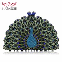 NATASSIE Women Purse Evening Bags Ladies Clutches Female Crystal Clutch Party Bag