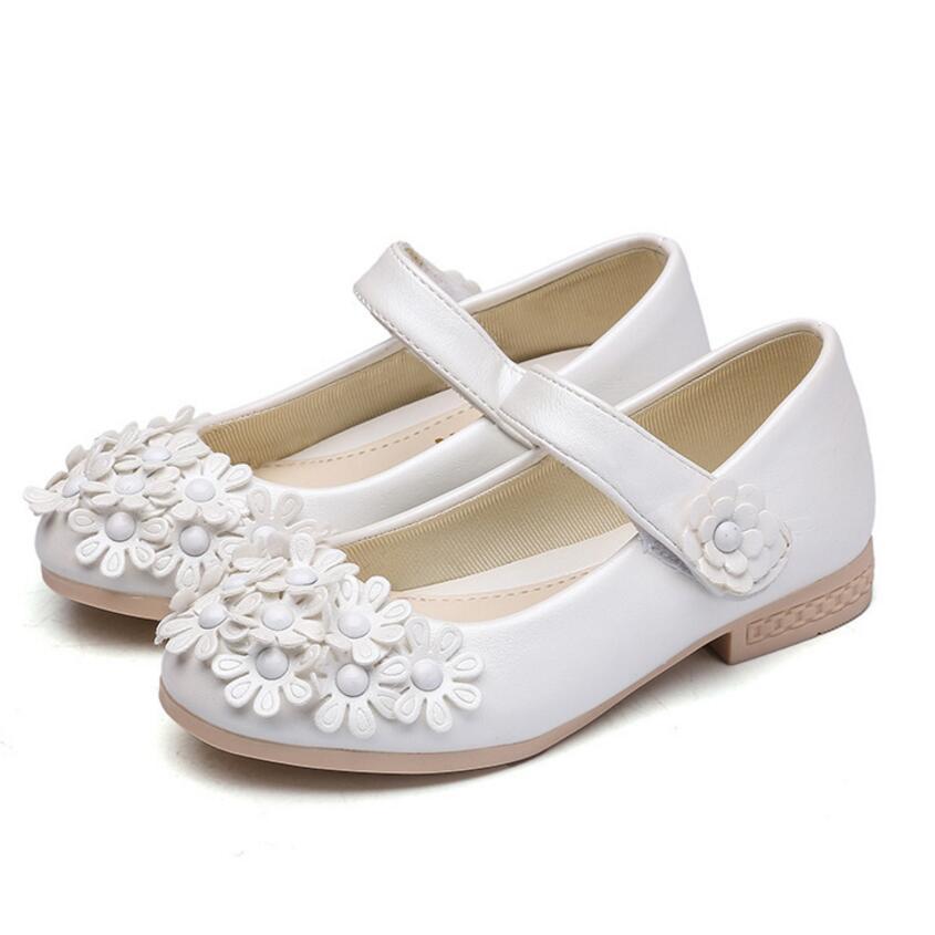 Obligatorisch Neue Sommer Baby Prinzessin Mädchen Sandalen Blumen Schuhe Pu-leder Schuh Kinder Party Schuhe Größe 26 ~ 36 Sandalia Infantil