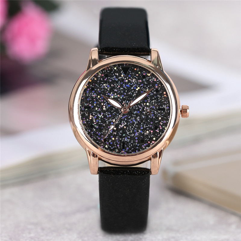 Hot Sale 4 Colors Fashion Ladies Dress Quartz Wristwatch Crystal Dial Leather Bracelet Elegant Stylish Women Watches Best Gift luobos small dial fashion women watch casual leather quartz watches simple style hot sale elegant ladies wristwatch clock 2017