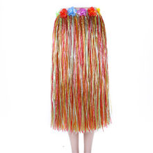 80 cm Volwassenen Hawaiian Gras Dans Rok Voor Strand Luau Party Decoratie Multicolor(China)