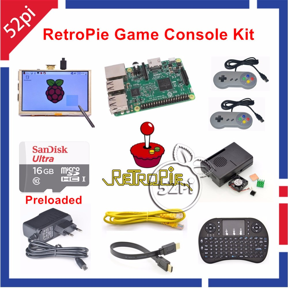 Raspberry Pi 3 Model B 16GB Preloaded RetroPie Game Console Kit with Two SNES Controllers 5