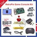 Raspberry Pi 3 Modelo B 16 GB Consola de jogos Pré-carregados RetroPie Kit com Dois Controladores de SNES 5 polegada 800*480 Tela de Toque