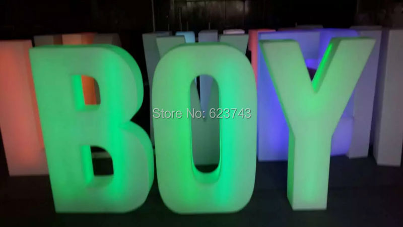 1 piece colors changeable rechargeable LED light words Luminous letters sign led floor lamp glowing light outdoor indoor in Novelty Lighting from Lights Lighting