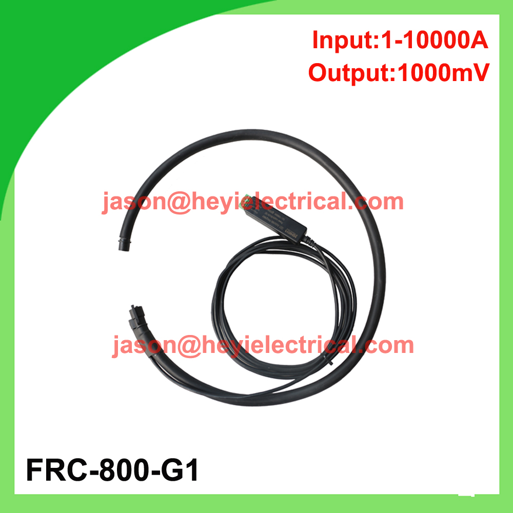 цена на China manufacturer Input 10000A FRC-800-G1 flexible rogowski coil with G1 integrator output 333mV Clamp on CT