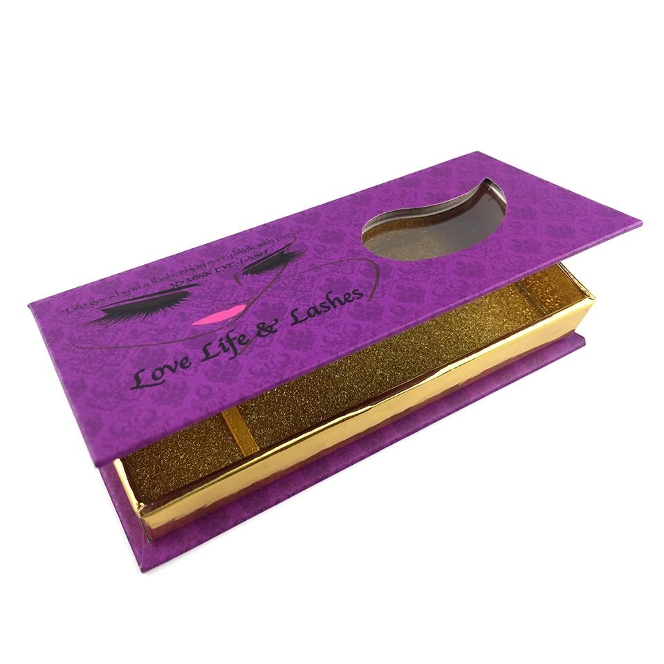 US $399 0 |Free Shipping OEM/ODM Eyelashes Packaging Box Premium Custom  Logo Brand Name Printed Cardboard Design Eyelashes Packing Box-in Gift Bags  &