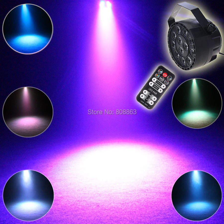 ESHINY Mini RGBW 12 LED Color Remote Voice Lamp DMX 512 8CH Flash Par Stage Party DJ Equipments Lumiere Dance Beam Light R2D2