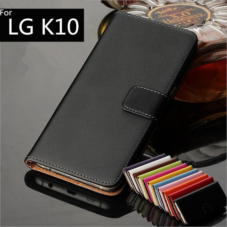 For LG K10 cover case Premium PU Leather Wallet Flip Case