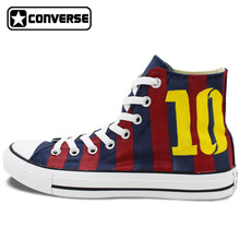 Original Hand Painted Converse Shoes Women Men Design Soccer Jersey Football Number 10 High Top Canvas Sneakers for Gifts