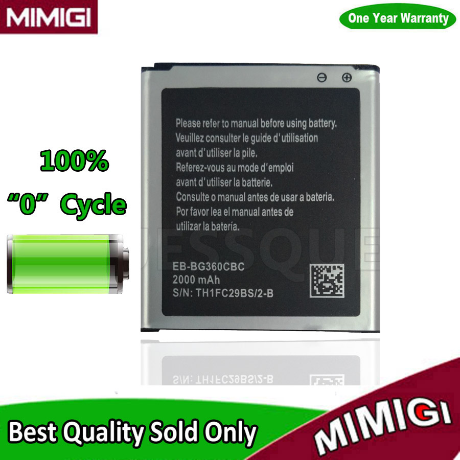 JESSQUE 2000mAh Battery For Galaxy Core Prime G360 G3608 G3606 G3609 AKKU ACCU For Samsung SM-G360BT + Tracking Code ...