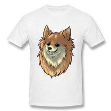 Fashion Pomeranian Dog T Shirt For Male Free Shipping Boy Big Size Short  Sleeve 100% Cotton t shirt Hot sale 4db5bcd9e6f4