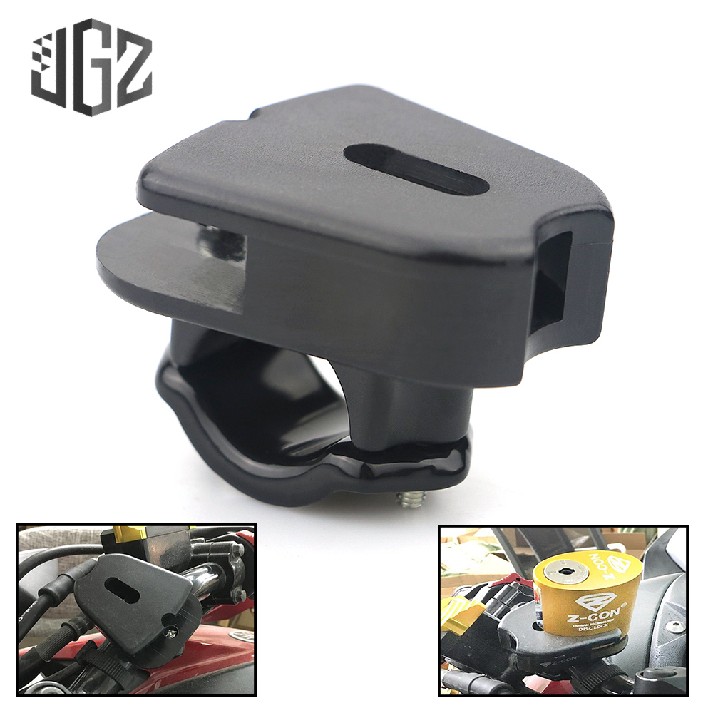 Motorcycle Plastic Security Disc Brake Lock Frame Holder Fixed Outdoor Protection Anti Theft Lock Bracket Accessories Modified