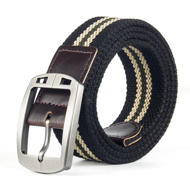 BT Factory direct mens belt canvas belt men and women casual belt pin buckle belt manufacturers spot wholesale