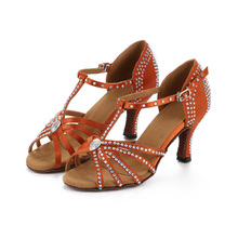 Women Dance Shoes Plus Size Women's Latin Dance Shoes Zapatos De Baile Ballroom Shoes Woman High Quality Rubber Salsa Cowhide