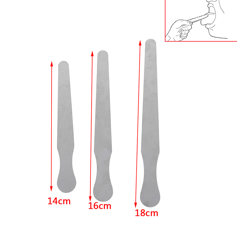 14/16/18cm Stainless Steel Waxing Wax Spatula Tongue Depressor Sticks Kit Skin Beauty Tool 1pc