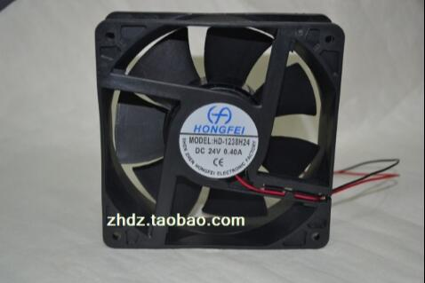 DC cooling fan HD-1238H24 12038 24V 0.4A 2 lines fan converter cooling fan replacement d12bm 12d 4 pin connector pwm 12038 12v 2 3a 6000rpm for antminer bitmain s7 s9 useful