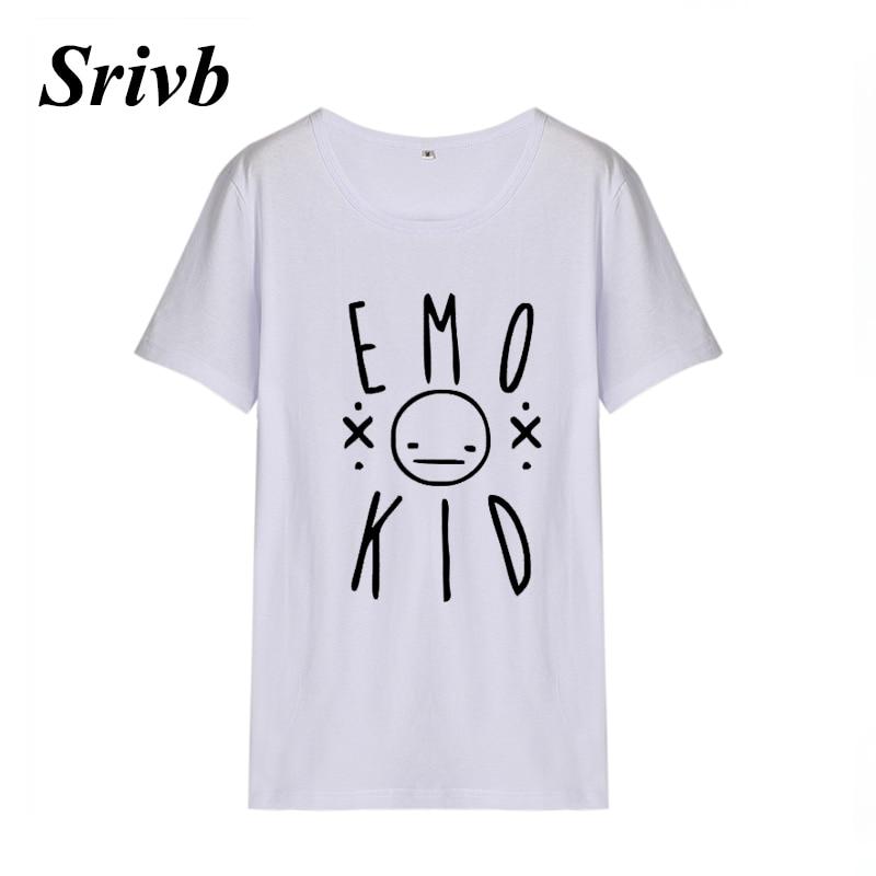ce20bd22c4b5 Srivb Emo Kid Harajuku Women Punk Rock Tumblr Short Sleeve Summer Cotton  Hip Hop Women T