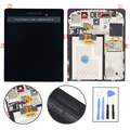 Para blackberry 9983 p9983 pantalla lcd táctil digitalizador asamblea con marco de reemplazo