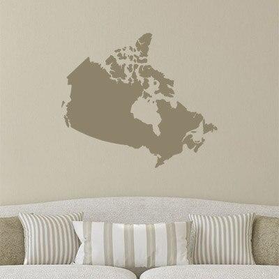 Canada Map Globe Earth Country Wall Vinyl Sticker Custom Made Home  Decoration Fashion Design