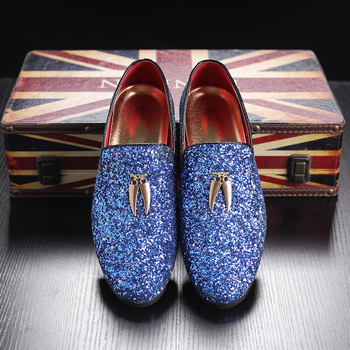Men Casual shoes Shoes Crystal Shiny Leather High Quality Soft Mens Flats New Spring Fashion Oxford