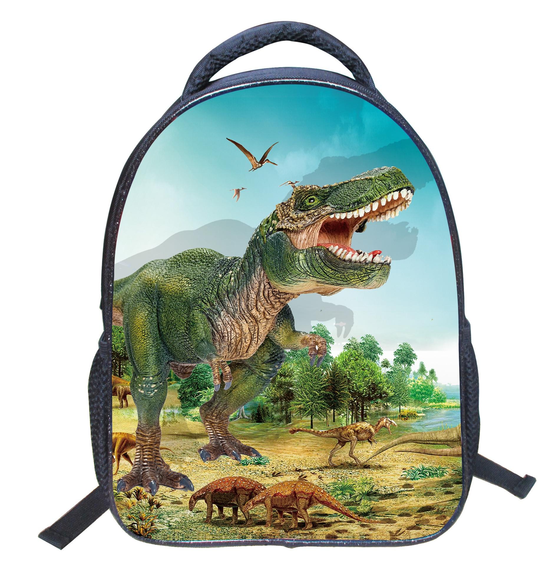 3D Dinosaurustega moodne seljakott