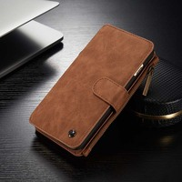 CaseMe Retro Wallet Case For Iphone 7 7 Plus Luxury Book Style Phone Case For Iphone