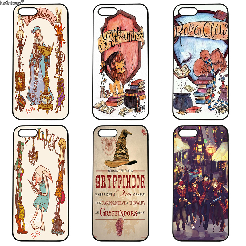 Mobile Phone Case Cartoon Harry Potter Hard PC Cover Fitted for iphone 8 7 6 6S Plus X 5S 5C 5 SE 4 4S iPod Touch 4 5 6 Shell