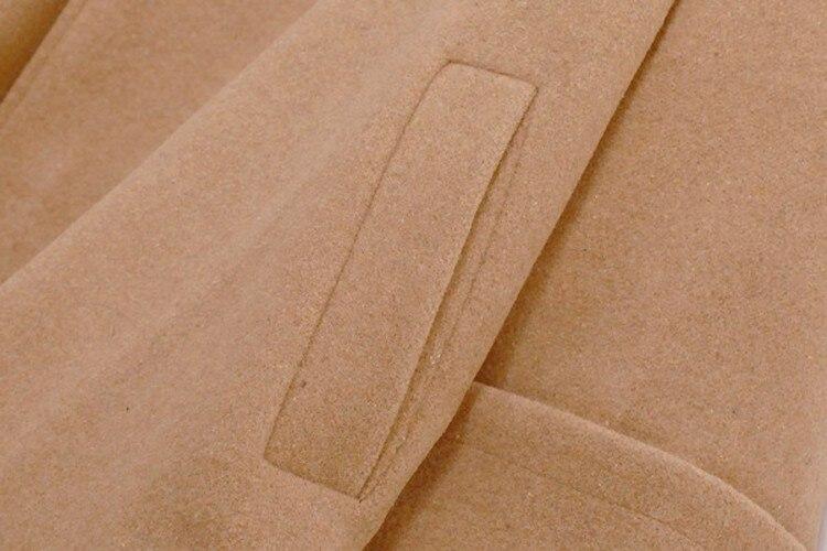 Новая Осенняя Женская куртка-плащ, зимняя женская хлопковая шерстяная куртка с капюшоном, повседневное шерстяное пальто с длинным рукавом