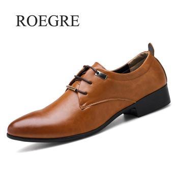 Big Size 38-48 Men Oxfords Leather Shoes Black Brown Shoes Handmade Comfortable Formal Dress Men Flats Lace-up Bullock Male Shoe