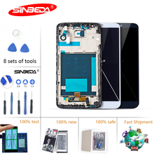5.2''Sinbeda LCD For LG G2 LCD Display Touch Screen with Frame For LG G2 Display D800 D801 D802 D805 D803 VS980 F320 LS980 LCD $ ipartsbuy high qualiay lcd screen touch screen digitizer assembly for lg g2 d800 d801 d803 f320