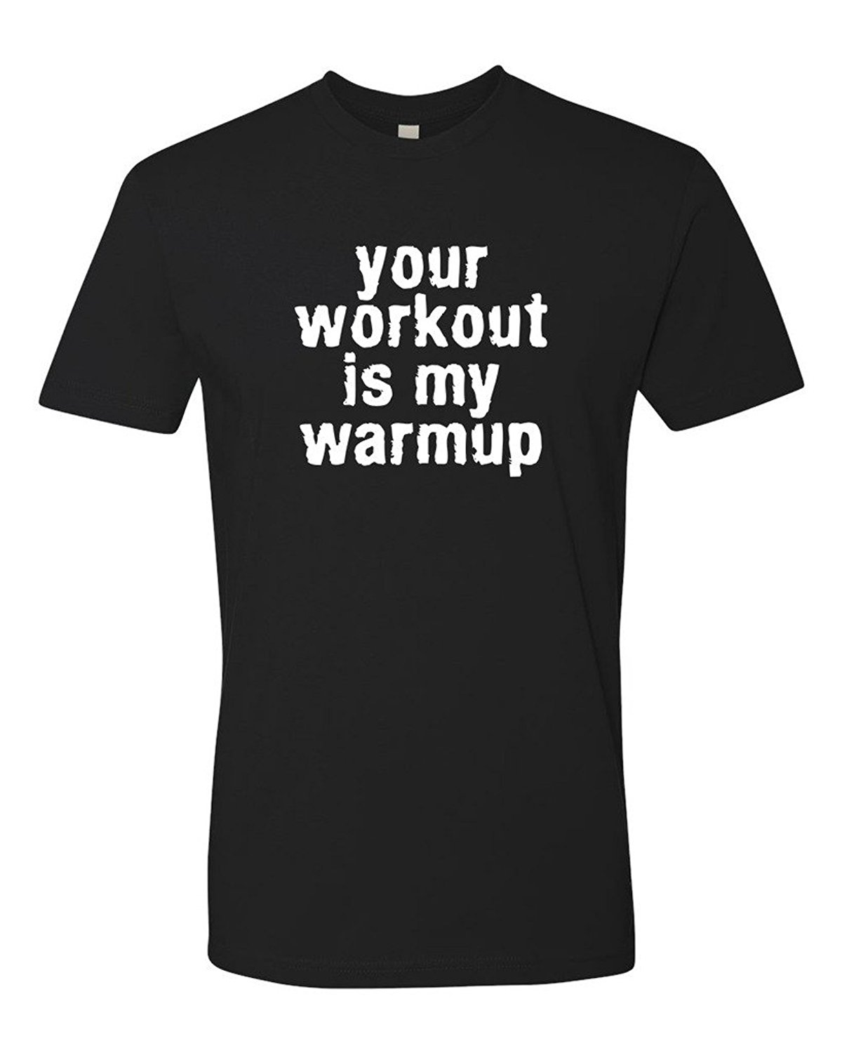 Panoware Your Workout Is My Warmup Gymer Workout T-Shirt Sleeve Male Pre-Cotton Clothing 100% Cotton T Shirts Short image