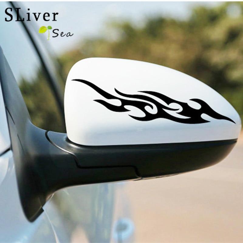 Mazda Cx 3 2 0 Sport Nav 5dr Hatchback: SLIVERYSEA 1 Pairs Fire Flame Car Styling Body Sticker