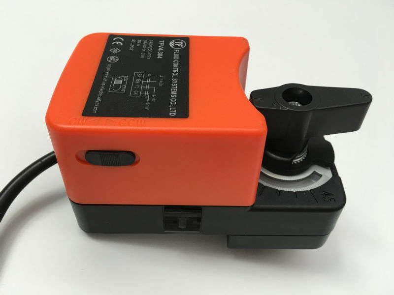 4Nm, AC220V Actuator for Electric motorized ball valve, ON/OFF type with manual override and open angle Graduation