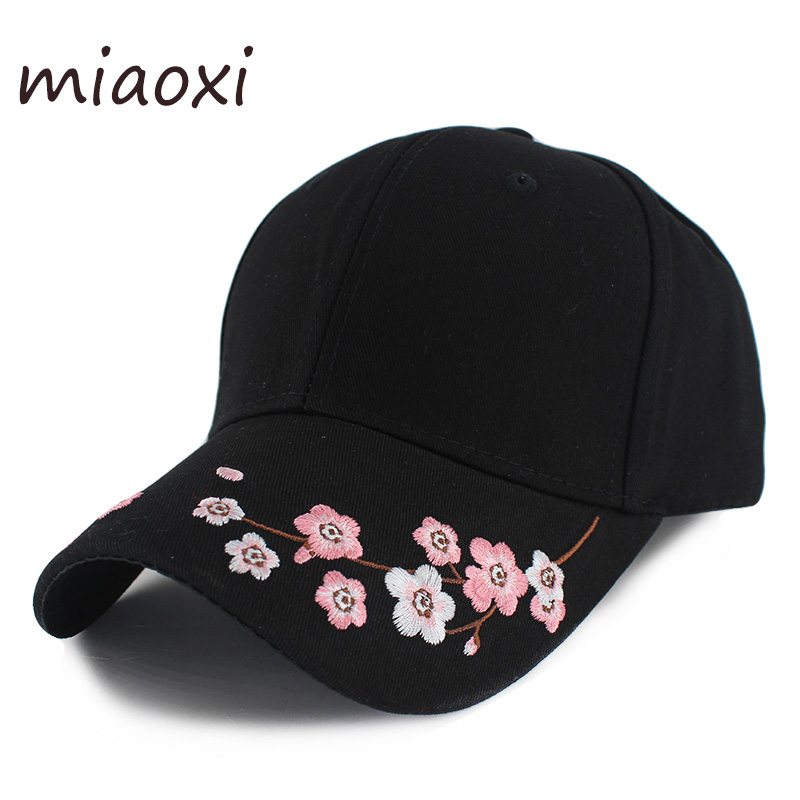 New Fashion Women Baseball Caps For Girls Beauty Summer Cap Floral Adjustable Casual Bone Brand High Quality Gorras