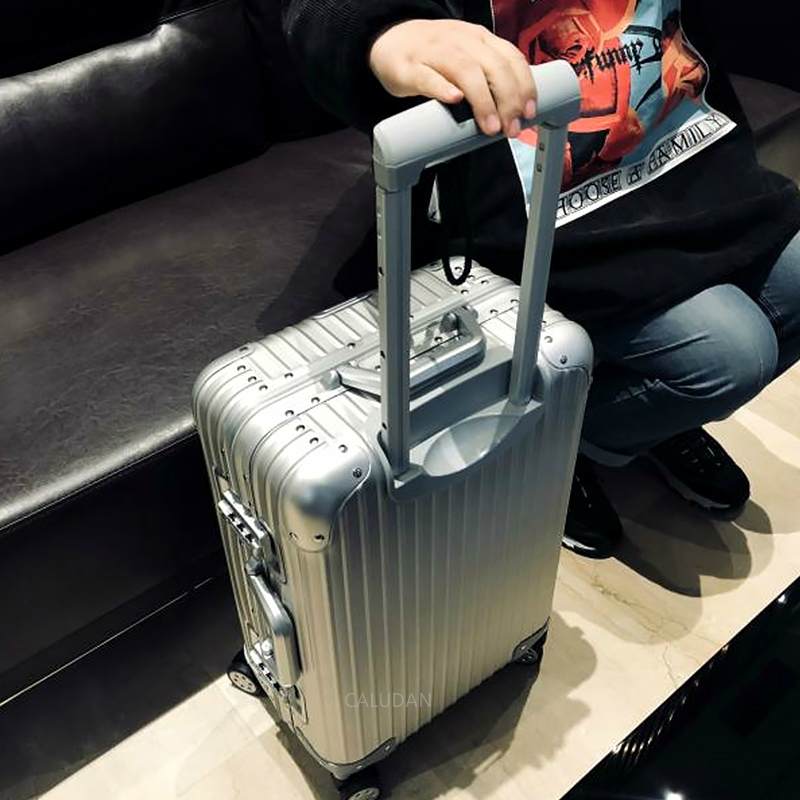 100% Aluminum Alloy Pull Rod Suitcase 20/24/29 Inch Metal Luggage Fashionable New Type Of Suitcase Luggage Pull Rod Box