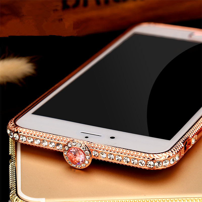 dd844e200d US $10.45 5% OFF|New Bling Luxury Diamond Metal bumper Frame For iPhone X 6  7 8 Plus Fashion Style Crystal Rhinestone Cover Case Glitter Capa-in Phone  ...