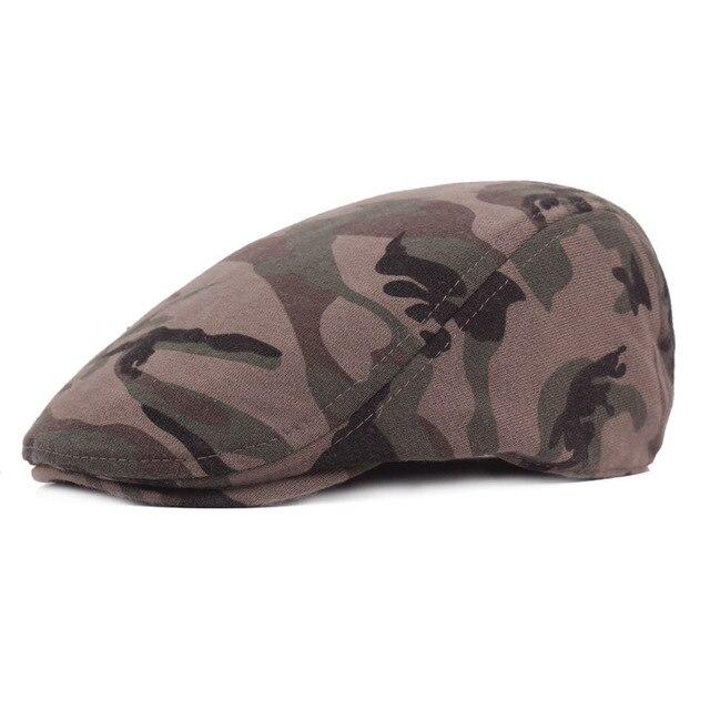 7b64330cdba68 2017 New Winter Beret Man Camouflage Peaked Cap Woolen Keep Warm Hats  European Forward Hat Bounet