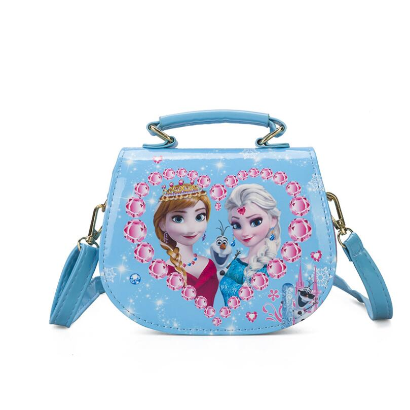 Fashion Cartoon Princess Pattern Print Children Handbag Lovely Kids Shoulder Bag Girls Snow Queen Shoulder bags for Daughter