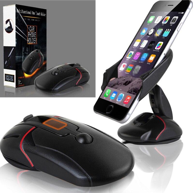 Innovantes Universel Pare-Brise Tableau de Bord Souris De Voiture Support  de Stand de Téléphone pour iphone 6 6 s plus Pour LG G5 Samsung Galaxy S6  S7 Bord d8d37977af2