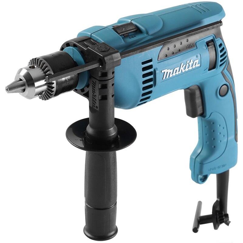 цена на Drill impact Makita HP1640K (Power 680 W, щеточный reverse, key holder, case)