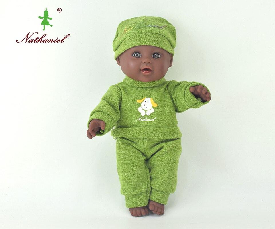 12inch sweater doll reborn lol baby lifelike newborn black boneca dolls baby soft toys toy girl kid gift Nathniel bathing