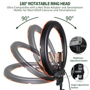 Image 4 - spash RL 18 LED Ring Light Photography Lighting with Tripod Makeup Mirror 240 LEDs Dimmable 5500K Camera Studio Phone Video Lamp