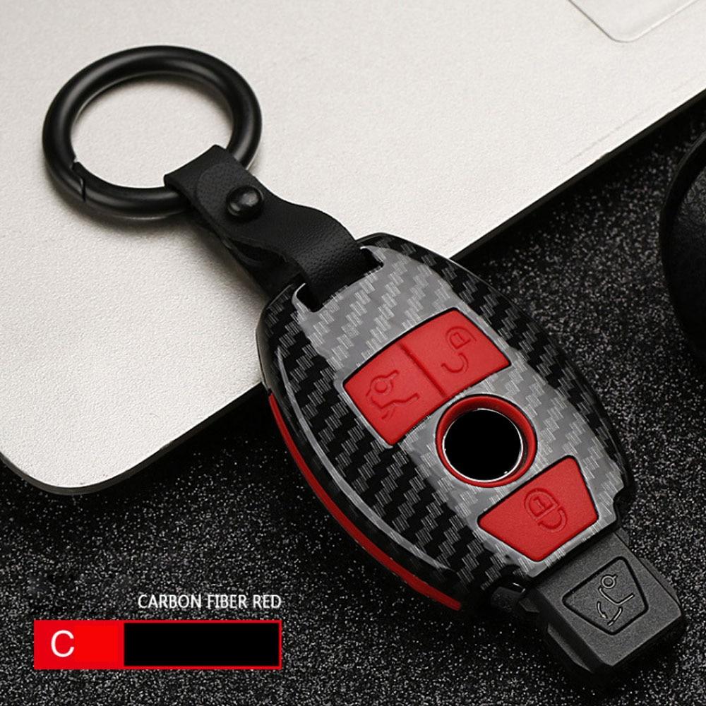 ABS Carbon fiber Car Remote Key Case Cover For Mercedes benz A B R G Class GLK GLA w204 W251 W463 W176