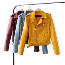 2017   autumn  winter  women's clothing casual  short  PU faux leather jacket motorcycle coat  biker jacket outwear