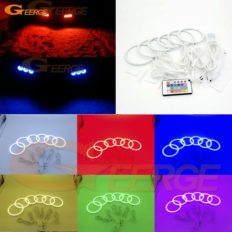 For Alfa Romeo Brera Spider 2005-2011 Excellent RGB Angel Eyes kit Multi-Color Ultra bright RGB LED Angel Eyes Halo Rings for alfa romeo mito 2008 2009 2010 2012 2013 2014 2015 excellent multi color ultra bright 7 colors rgb led angel eyes kit
