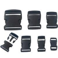 Webbing Bag Buckle Plastic Black Strap Adjustable Black Plastic Side Release Bags Trunk Clips Buckles 10-50mm Accessories Hot