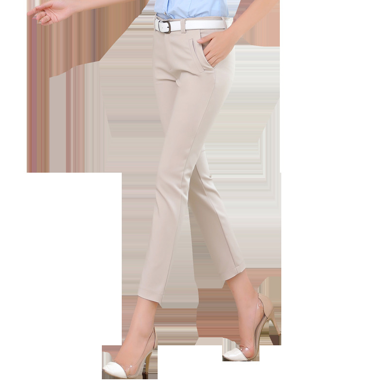 Para Moda Harem De Desgaste Mujeres apricot Primavera Nueva Mujer Ol Milby Pantalon Cintura Mediados Pantalones Oficina Casual Femme caqui negro 5qXp0xfp