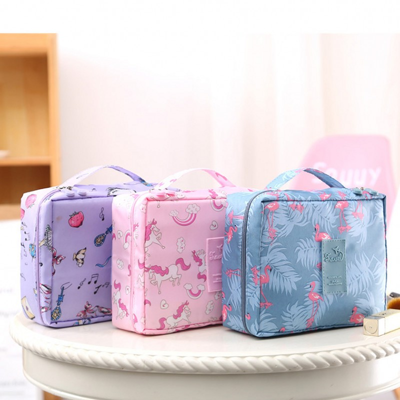 2019 Fashion Man Women Makeup Nylon Cosmetic Bag Clear Makeup Case Toiletry Wash Functional Organizer Storage Pouch Beauty Kit
