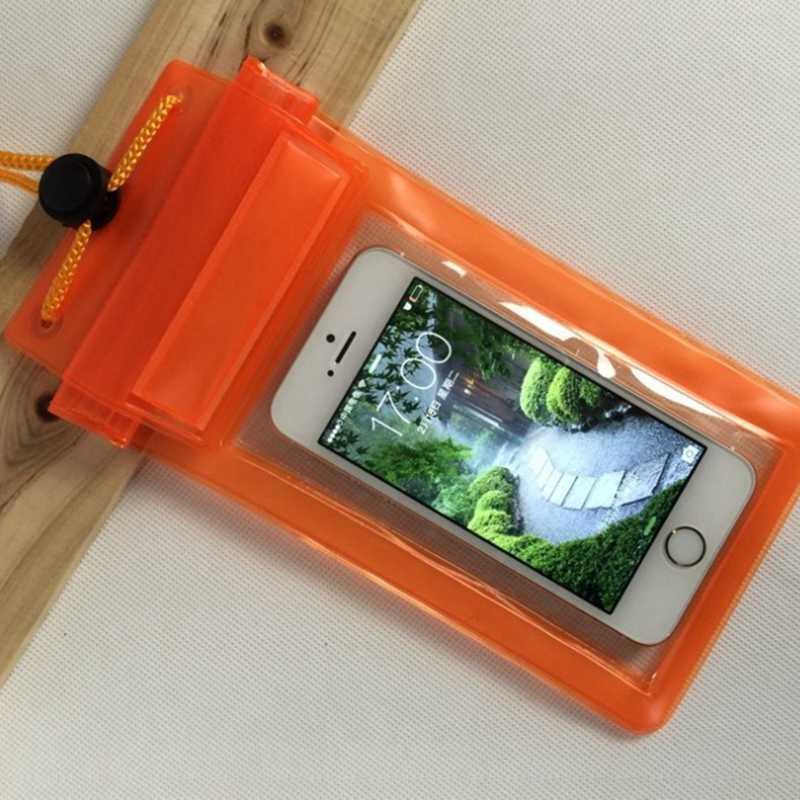 Universal Tahan Air Tiga Disegel Tas Ponsel Kantong Case Penutup Kuat Proctection untuk Ponsel