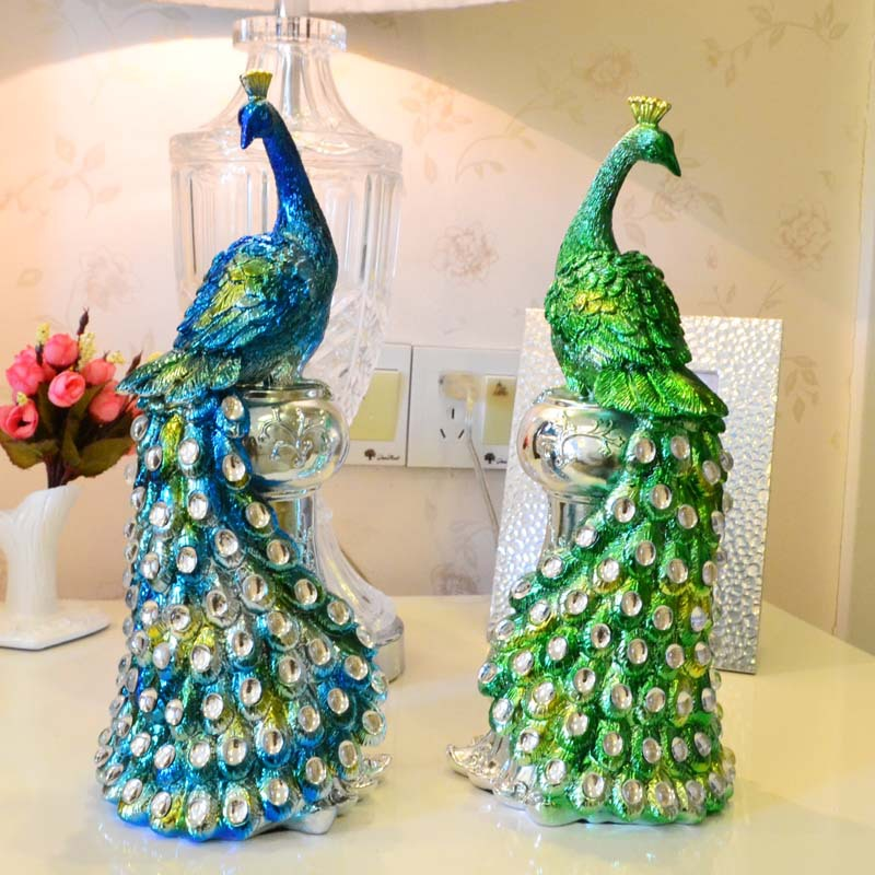 Peacock Wedding Gifts: Resin Peacock Ornaments Wedding Gift Ideas And Practical