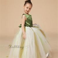 Ellie Ślubny Strój Pierwsza komunia Zielona Satin powrót Wstążka Graduation Ball taniec sukienka flower girl dress fairy posh